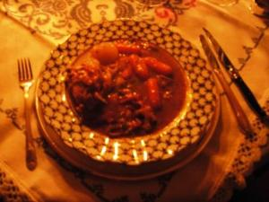 Coq au vin ready to eat!