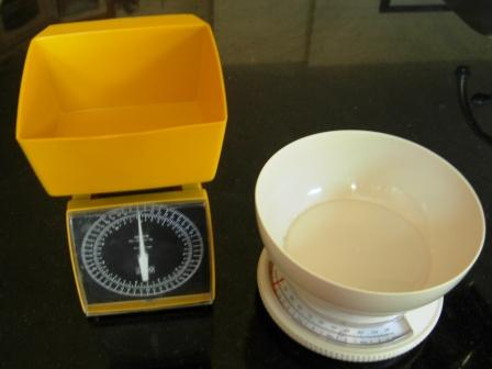 two different affordable kitchen scales