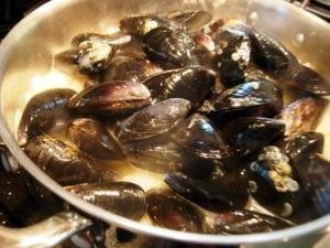 add muscles and white wine
