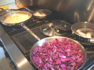 simmering cabbage